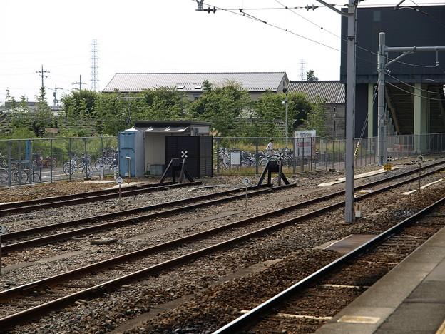 写真: 留置線車止め(宝積寺駅