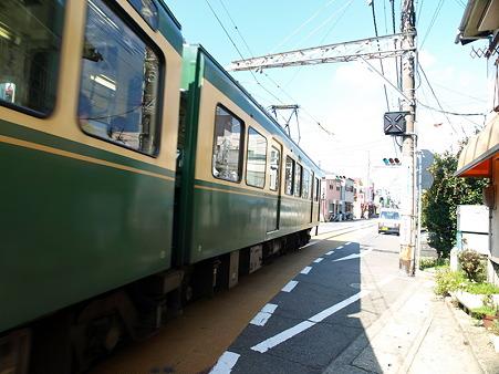 江ノ島→腰越の併用軌道区間37