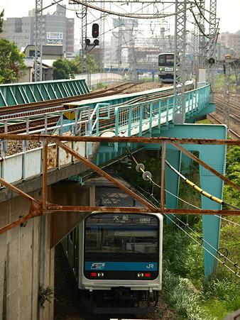 209系京浜東北線と205系横浜線(東神奈川)