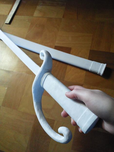 軍刀の塗装始めます!