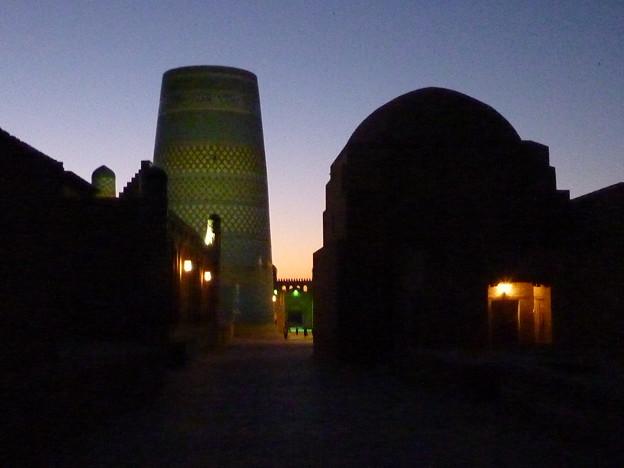 シルクロード イチャン・カラの夜景Night view at Itchan Kala,Khiva