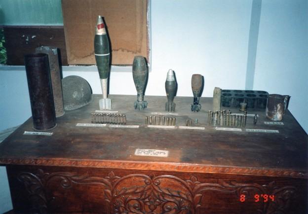 ゲリラ戦の弾薬 ホロ島博物館 Ammunition used in combat against MNLF