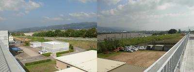 学院本館屋上からの風景