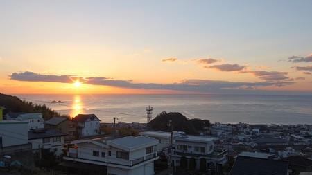 熊野灘 12月朝日 7:08