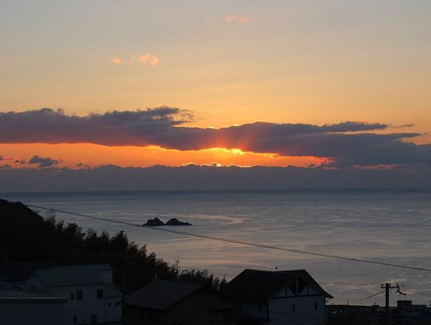 かんぽの宿熊野 12月朝陽7:02
