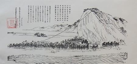 花窟神社09 お綱かけ神事の図