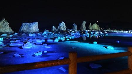 橋杭岩ライトアップ ワイド01