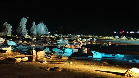 橋杭岩ライトアップ ワイド02-1