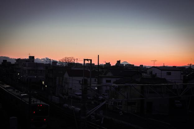 宇都宮線と富士山@東大宮