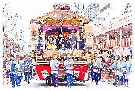 甲子祭 山車