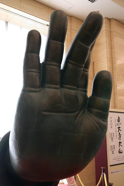 2010.11.15 東京国立博物館 東大寺大仏 大仏さまの右手