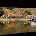 写真: 額縁の紅葉風景141115-7625