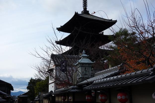 写真: 八坂の塔、残秋風景2!2014