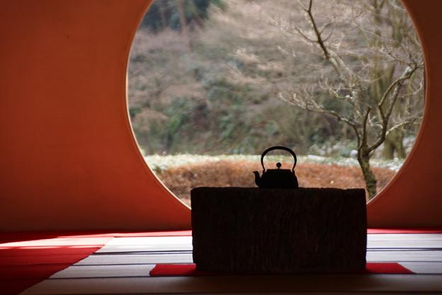 明月院紫陽殿の丸窓!2015