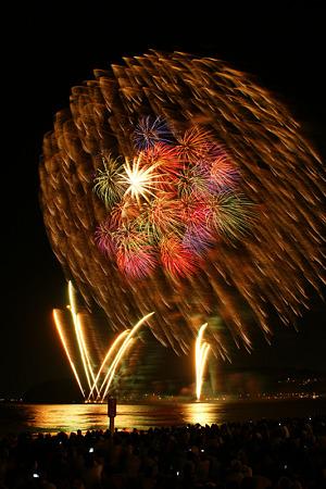 花火の彩り、逗子海岸2!(20100826)