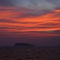 Photos: 真赤に染まる夕焼け空と江ノ島!