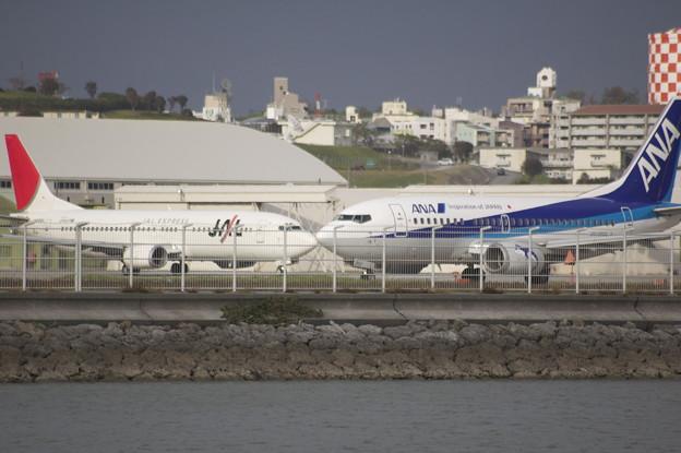 飛行機 キス ANA JAL