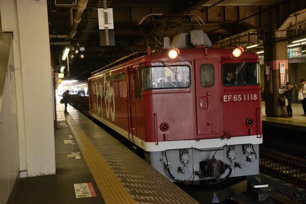 EF65 1118+チキ工臨 大宮3番発車!