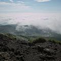 山頂から雲海