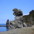 140829-32北海道ツーリング・親子熊岩