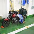 Photos: 140829-52北海道ツーリング・津軽海峡フェリー内の私の愛車