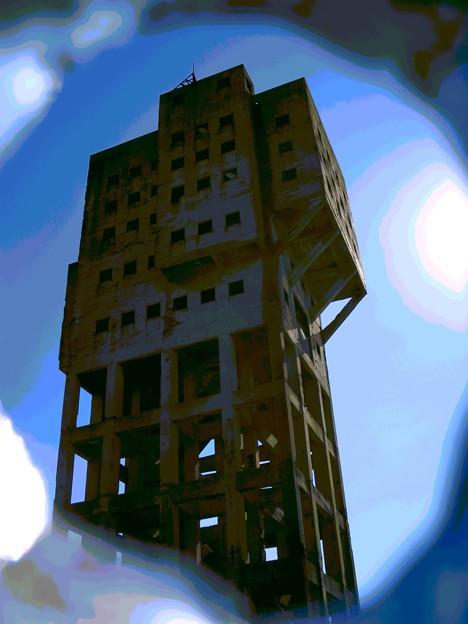 「竪抗跡の・・建物の・・アレンジ画像」 ・・・・