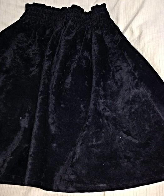 フェイクスェードのスカート