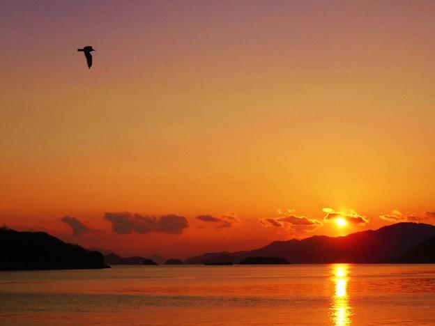 瀬戸に夕陽が沈むころ