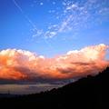 初秋の東の夕雲 in 瑠璃山