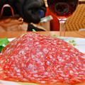 写真: サイゼリヤ ( 成増 )  熟成ミラノサラミ + ランブルスコ セッコ