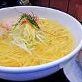 Photos: 麺屋海神  あら炊き塩らあめん ( へしこ焼きおにぎり付き )