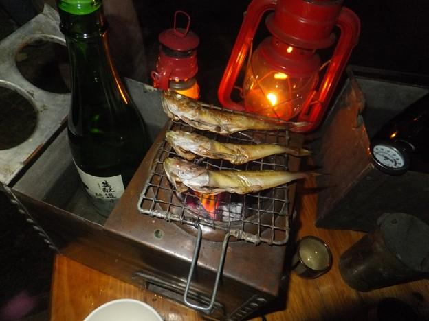野燗炉とハタハタの一夜干し