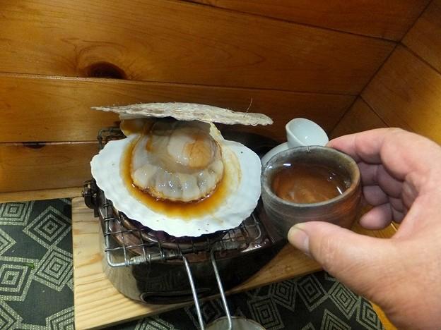 ホタテを焼く 4