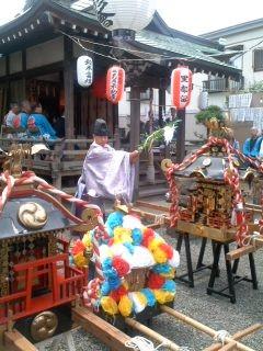 お神輿お祓い(7月6日、塩釜神社)