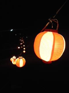 提灯行列(1月1日、今泉白山神社)