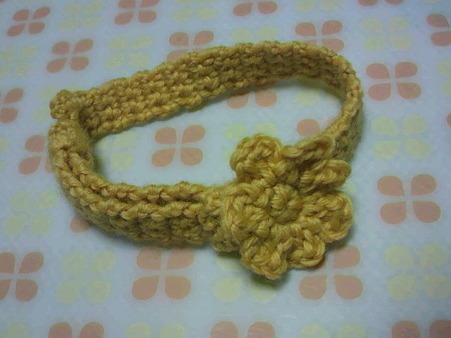 巾着と同じ糸で作りました。...