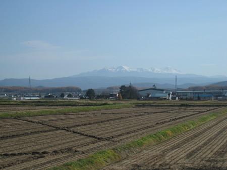 上川付近からみえる大雪山系