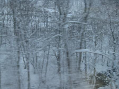 石北峠は降雪