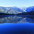 朝の大正池と穂高連峰