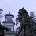 尾山神社 神門と狛犬(1)