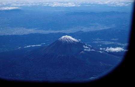 機窓からの富士