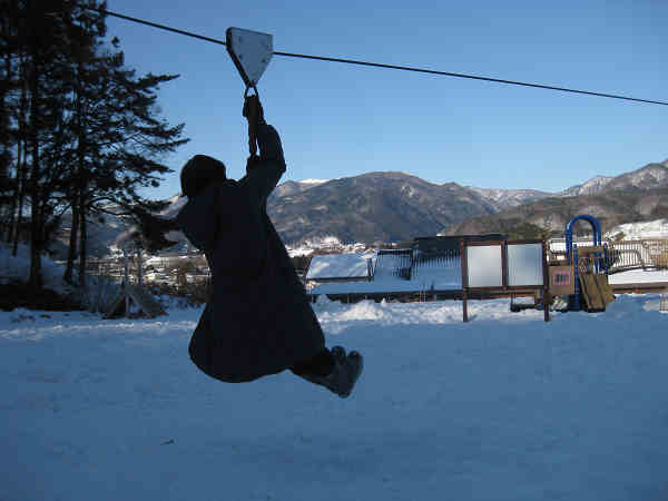 滑車で飛ぶs