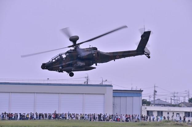 木更津へ帰投へ AH-64Dアパッチロングボウ・・