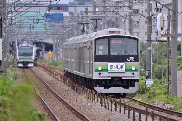 ストレートを颯爽と走る最後の横浜線205系・・20140823