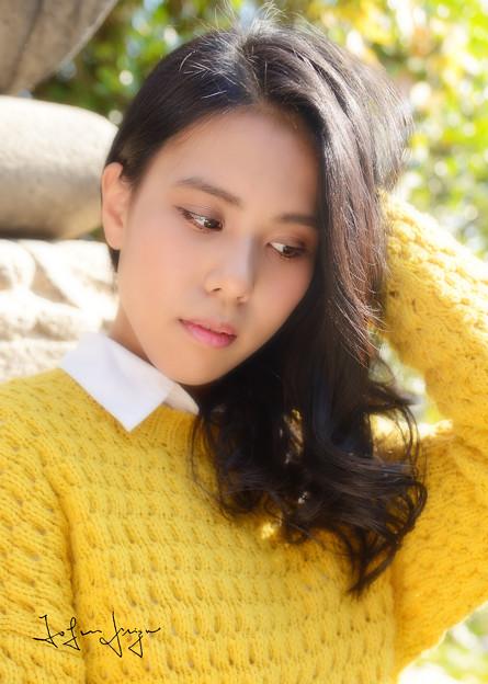 エリカ黄色セーターアップ2L