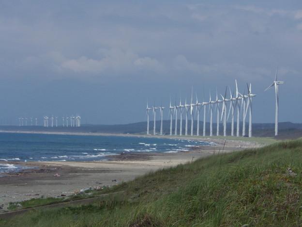 海岸線と風車
