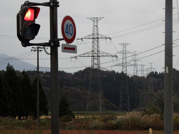 赤信号と鉄塔 『秋田幹線』