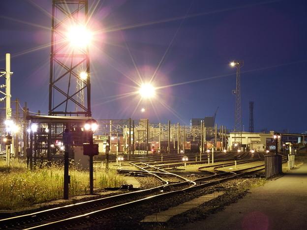夕刻の秋田貨物駅