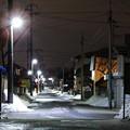 写真: 生活道路の灯り