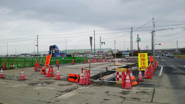 新4号国道、道の駅ごか近くの4車線化進捗状況その4